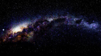 Milky Way from the Antarctic Peninsula
