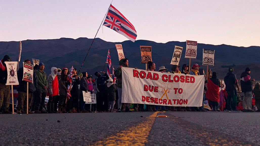 Protest at Mauna Kea in 2019
