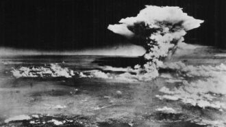 atomic bomb explosion at Hiroshima