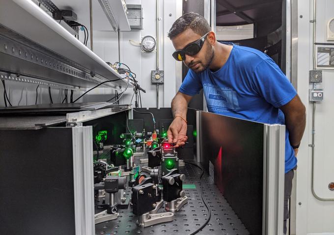 Laser experiment set up