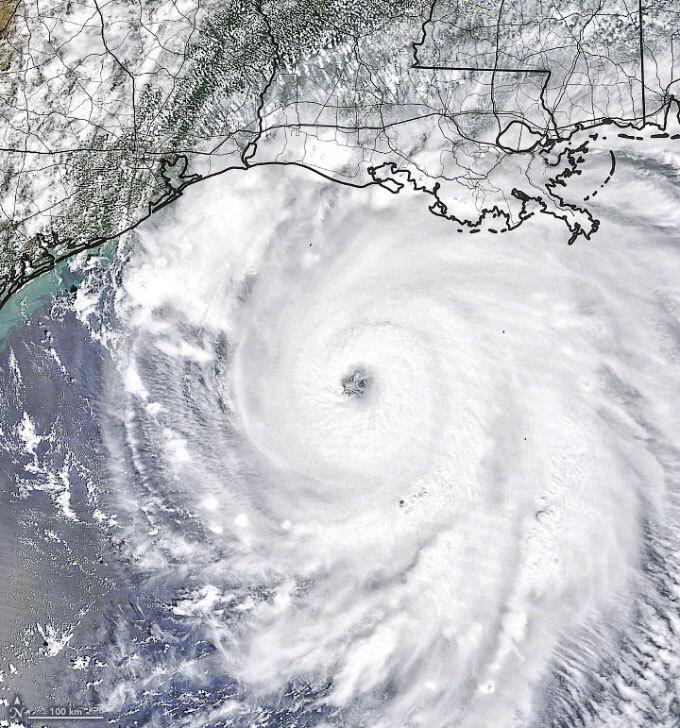 Hurricane Lauran satellite image