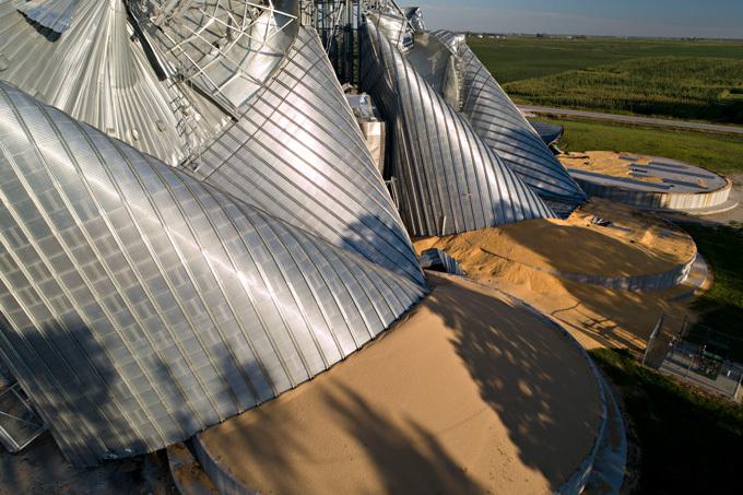 Iowa derecho storm damage