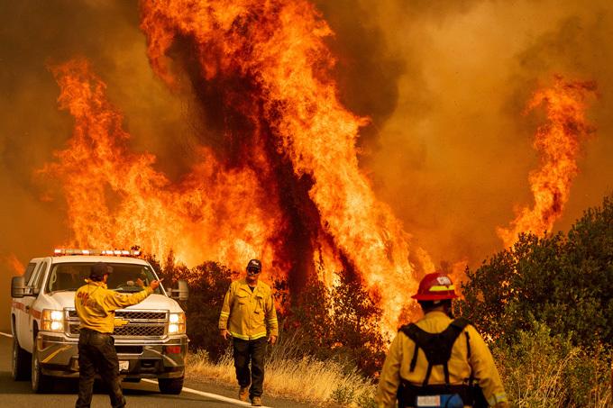 LNU Lightning Complex wildfire