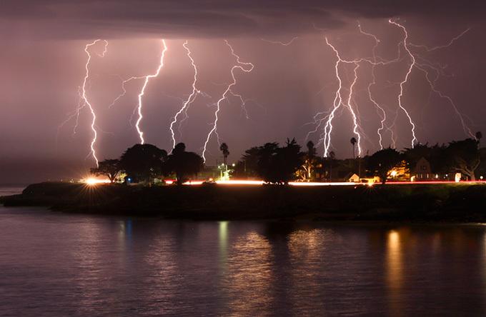 Lightning in Santa Cruz, California