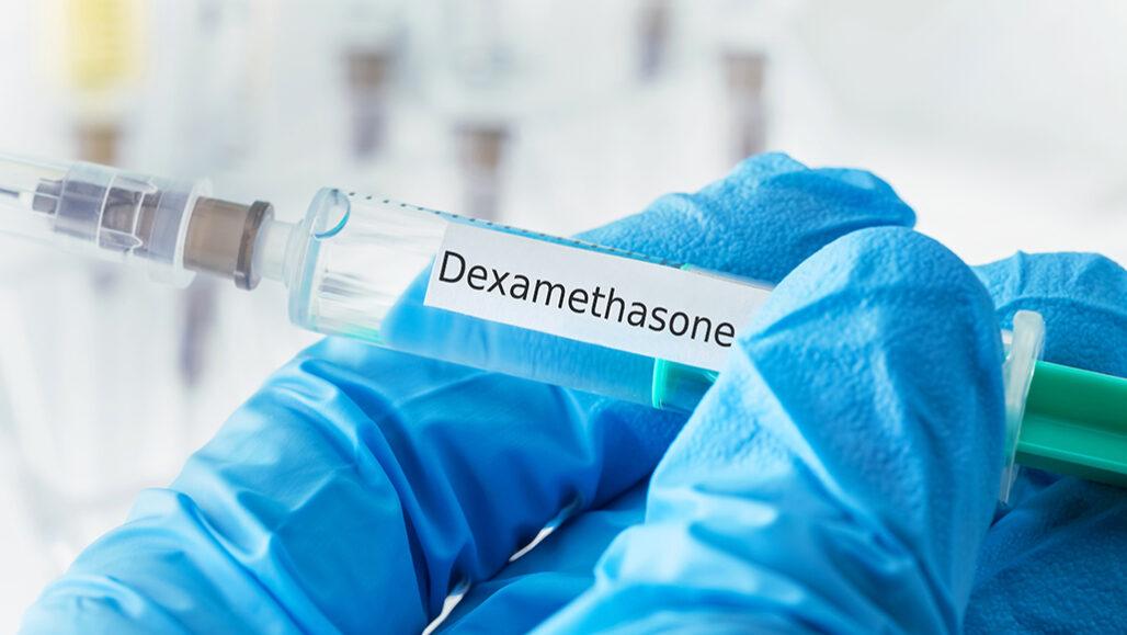 dexamethasone steroid in syringe