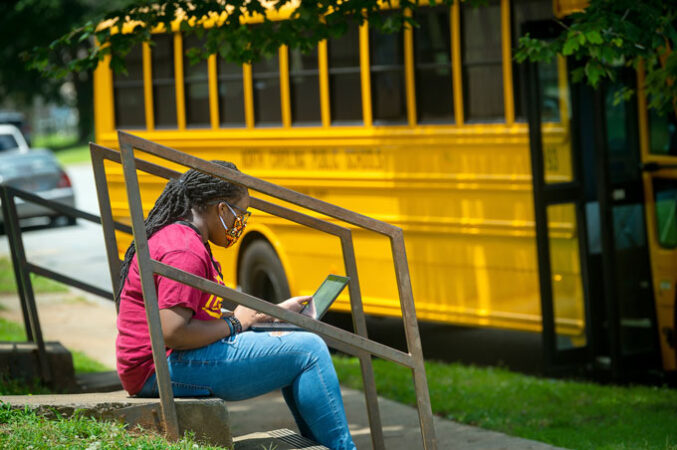 Guilford County smart bus with wi-fi