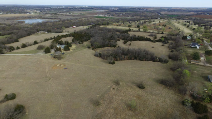 drone view of pasture in Kansas