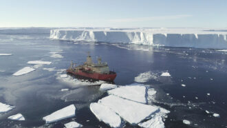 Nathaniel B. Palmer research ship in West Antarctica