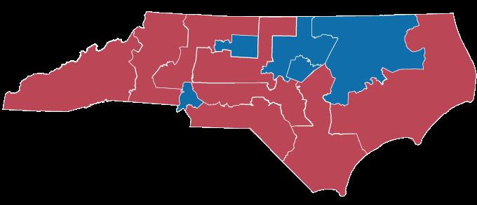 2020 map of North Carolina