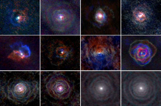 Collage of red giant stars