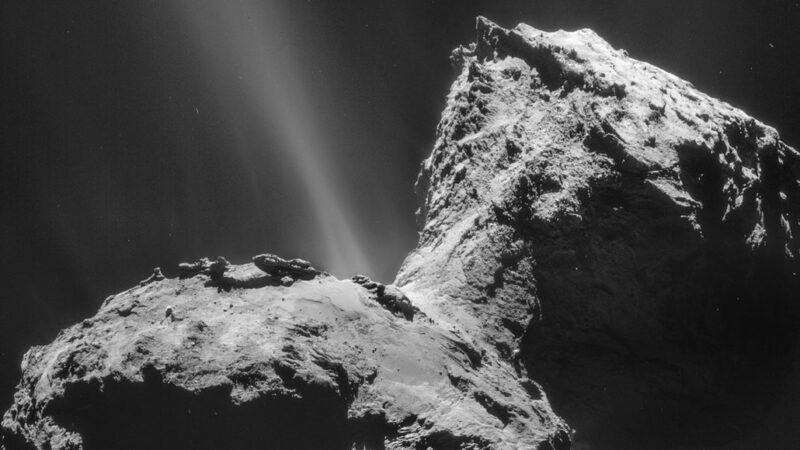 Comet 67P's aurora
