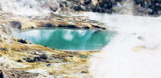 a photo of a hot spring