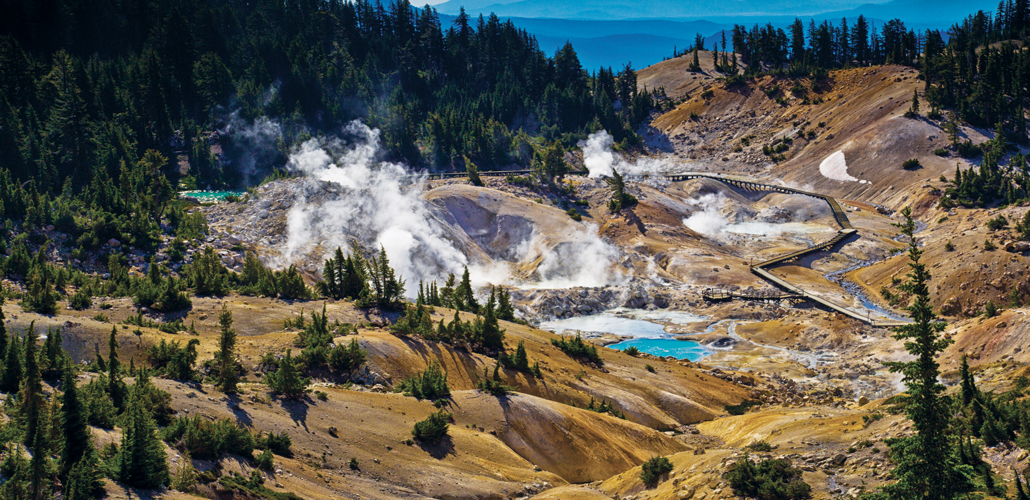 Bumpass Hell hot springs