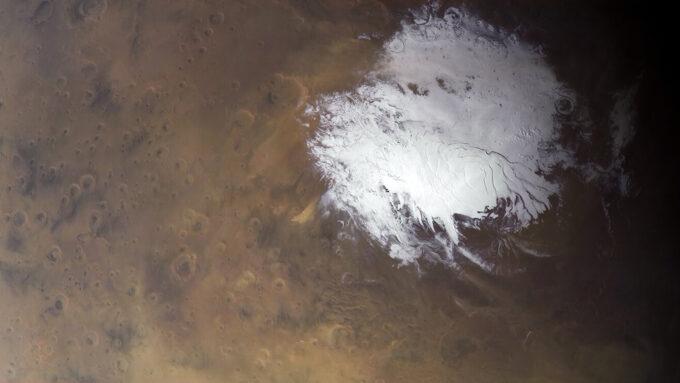 Mars south pole