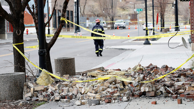 earthquake damage in Magna, Utah