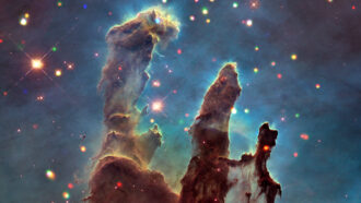 Pillars of Creation false-color image
