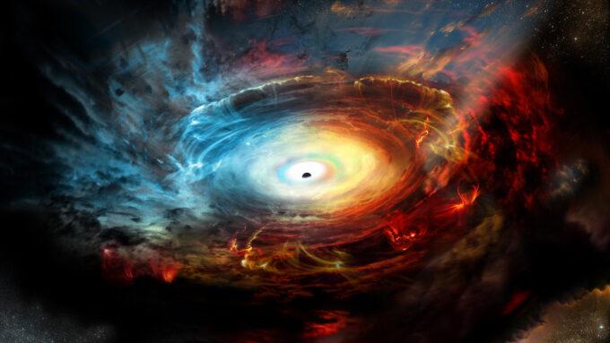 black hole (illustrated)