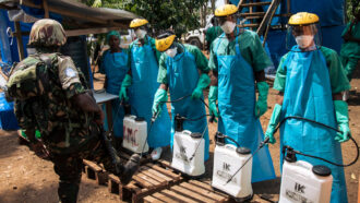Ebola treatment center in the Congo