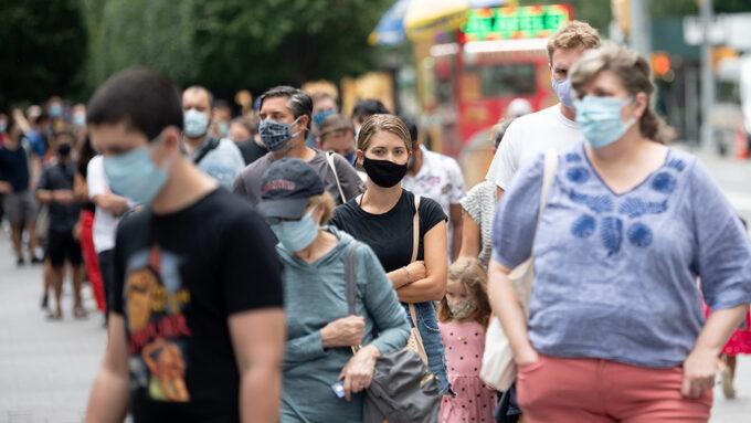 people wearing masks