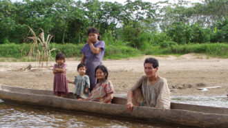Members of Indigenous Bolivian group Tsimane