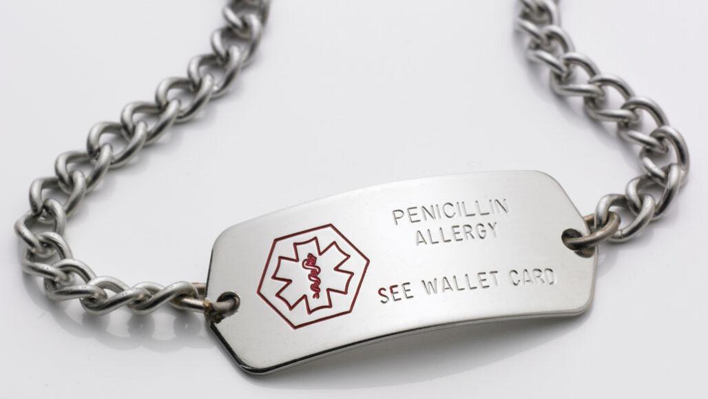 Penicillin allergy medic-alert bracelet