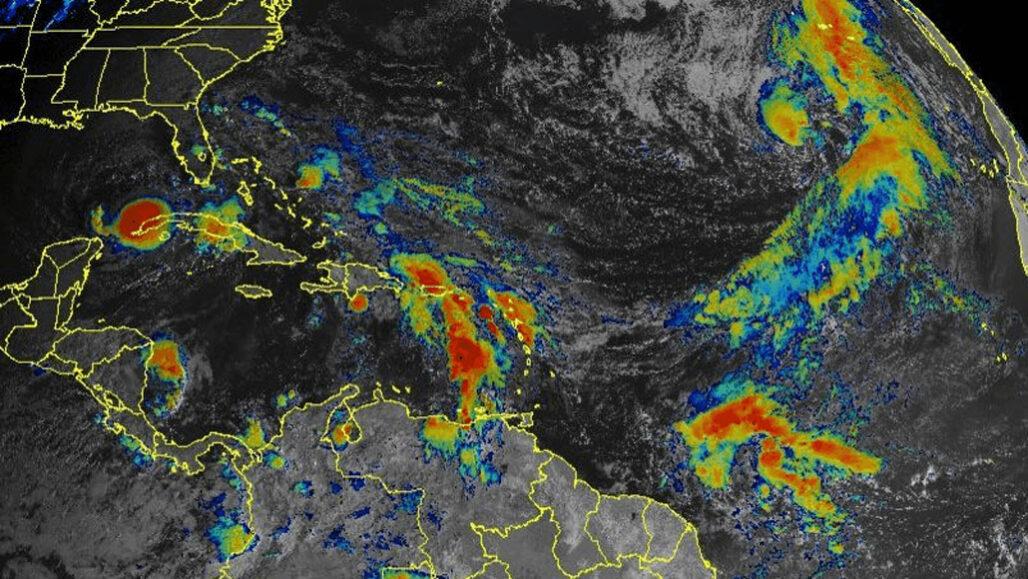 Subtropical Storm Theta in radar