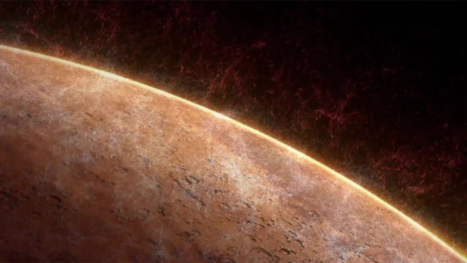 illustration of Mars surface