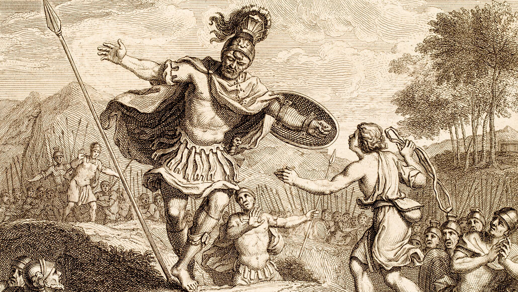 The biblical warrior Goliath may not have been so giant after all