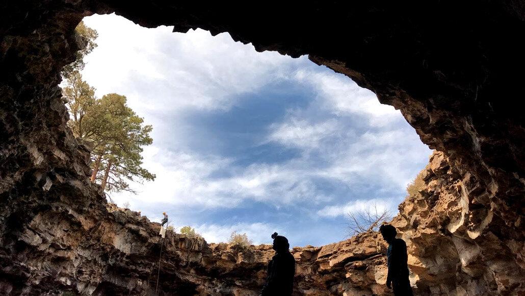 Lava tube in New Mexico
