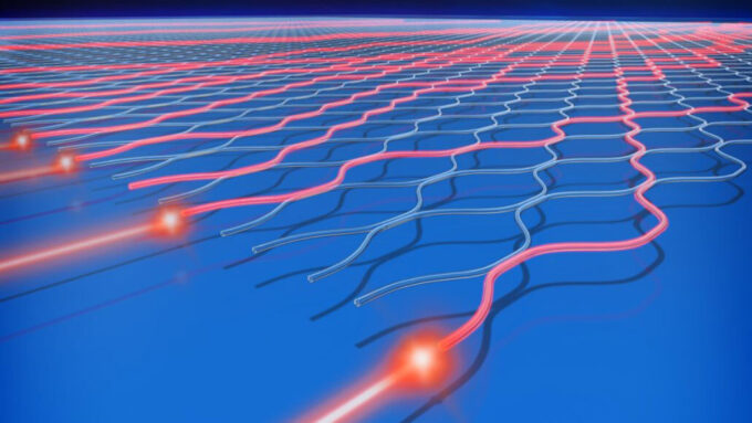 illustration of quantum computer light channels