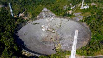 Collapsed Arecibo telescope