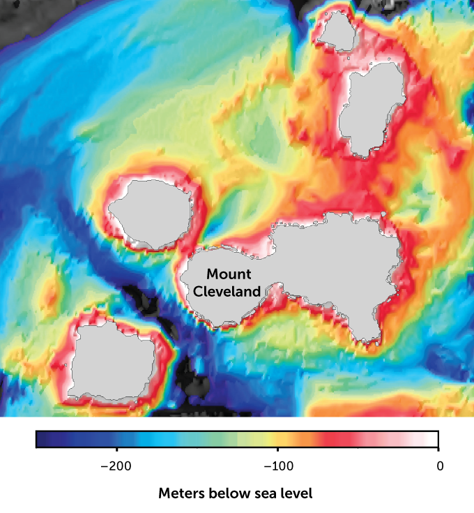 Seafloor mapping around Mount Cleveland