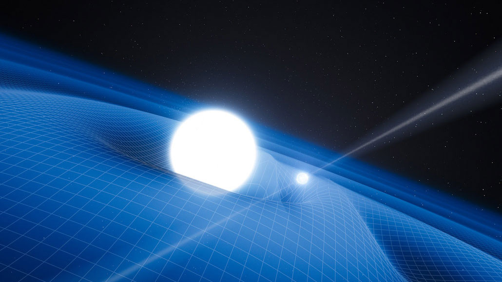 illustration of pulsar orbiting star