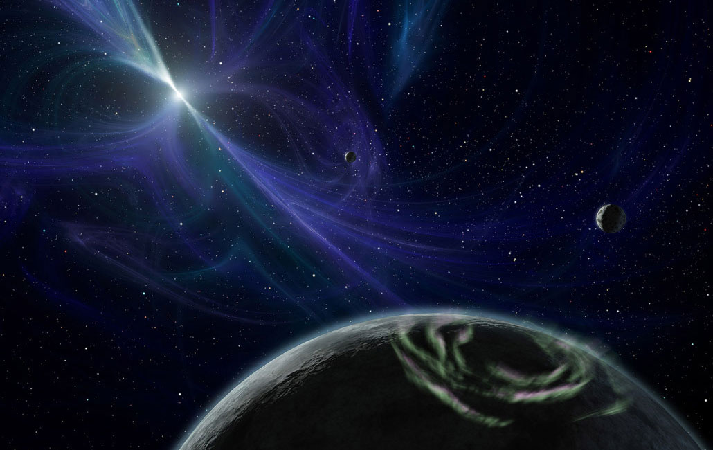 rocky planets orbiting the pulsar PSR B1257 + 12