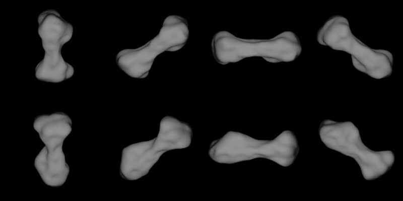216 images of asteroids from Cleopatra