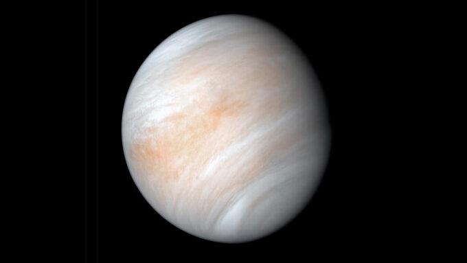 a false color composite image of the planet Venus