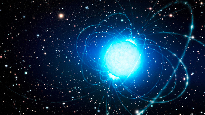 an illustration of a magnetar