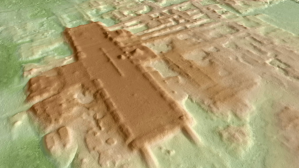 a three-dimensional remnant of an ancient Mayan site