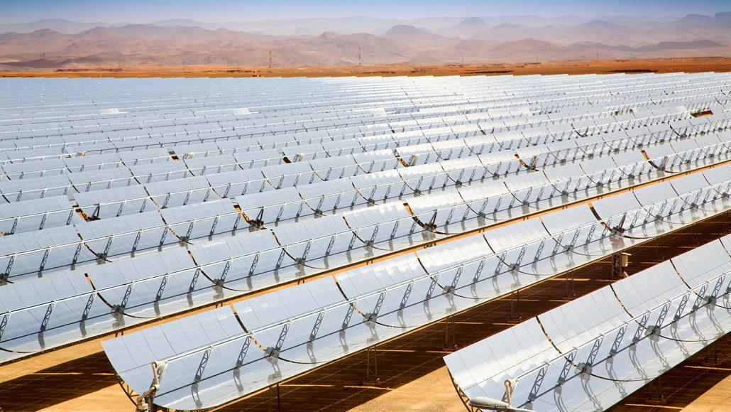 thermische zonne-energiecentrale in Marokko