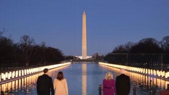 Lincoln Memorial covid ceremony