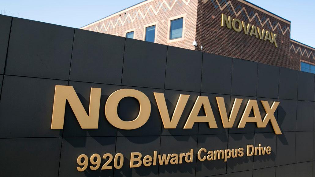 Novavax headquarters sign