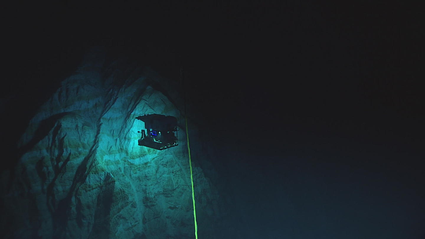 photo of submersible craft at the Mariana Trench