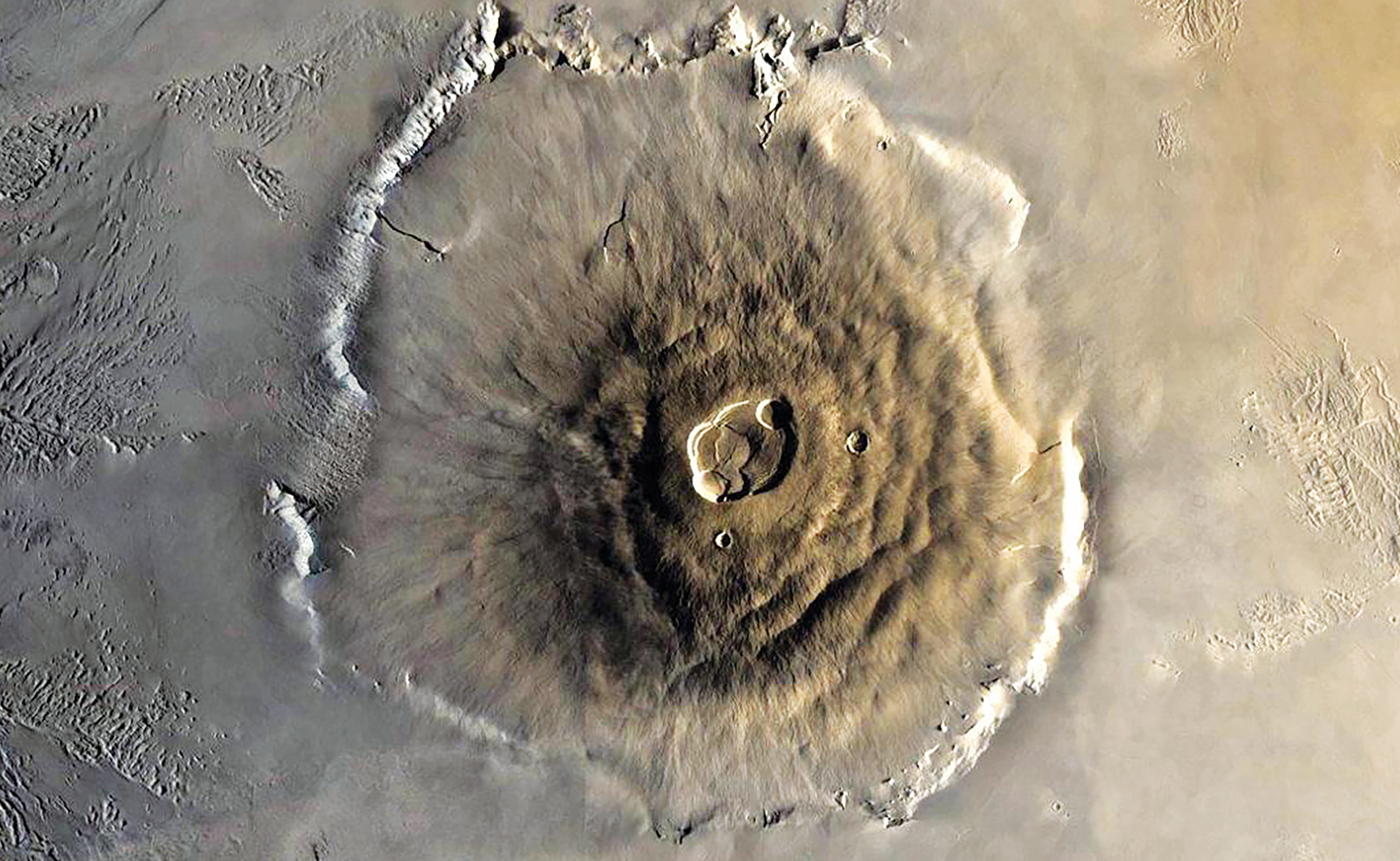 Mars volcano from above