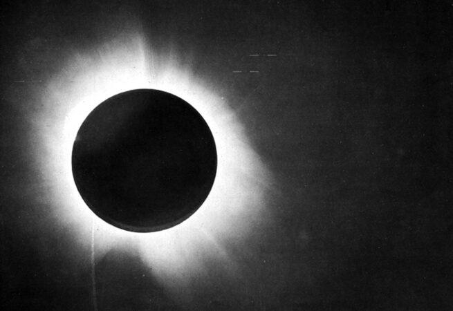 historic photo of 1919 total eclipse