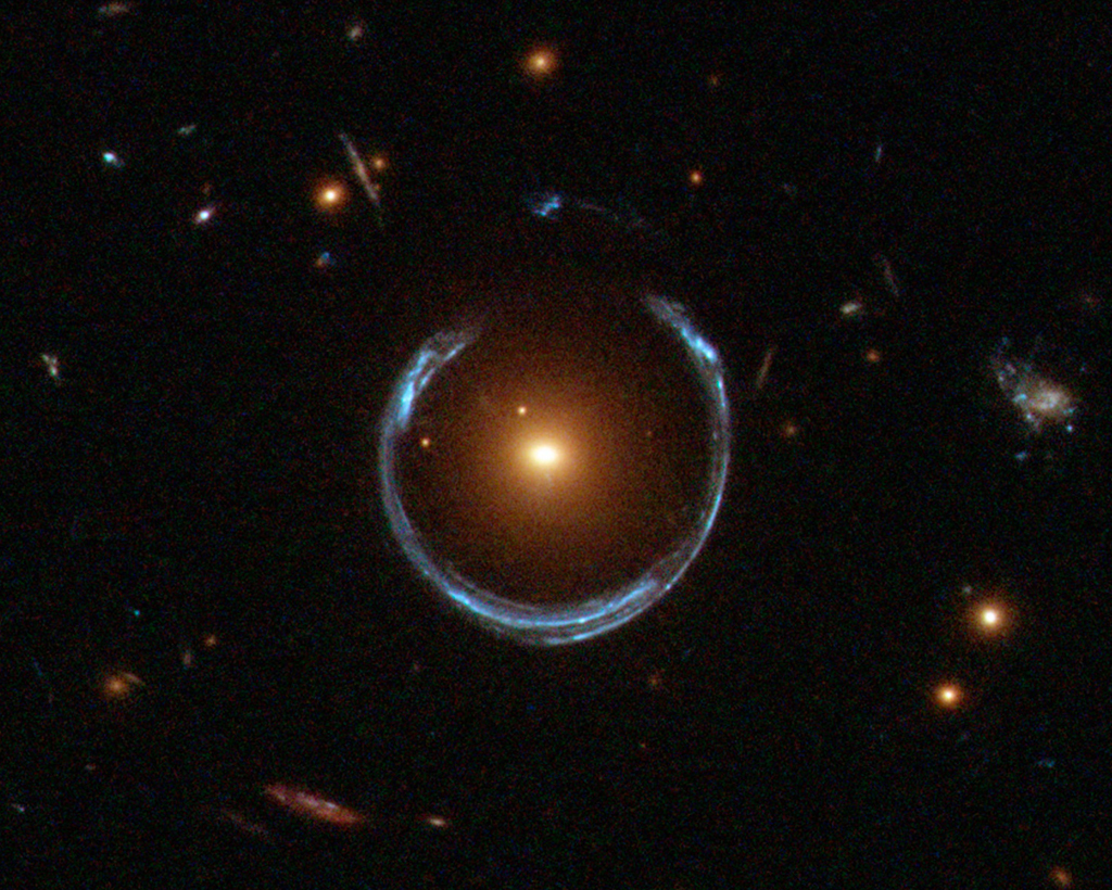 star with a horseshoe-shaped ring around it