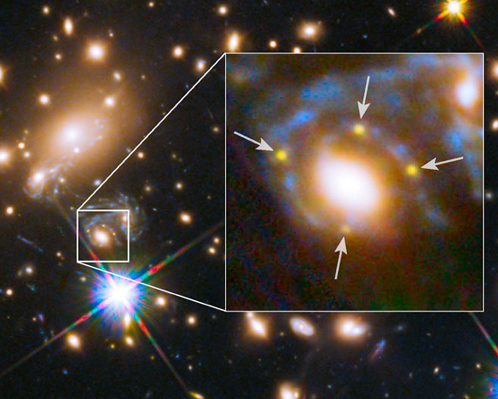 expanded view of a bright supernova