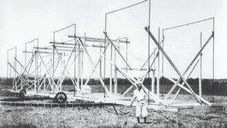 Jansky and his rotating radio antenna
