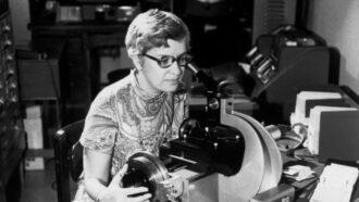 black and white photo of Vera Rubin