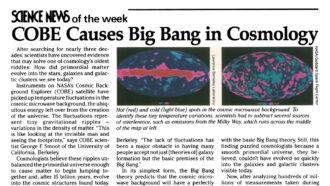 Screengrab of SN news of the week on COBE