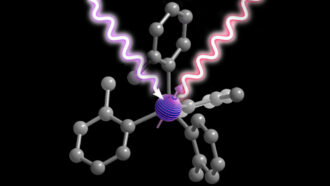 illustration of a molecule acting as a quantum bit